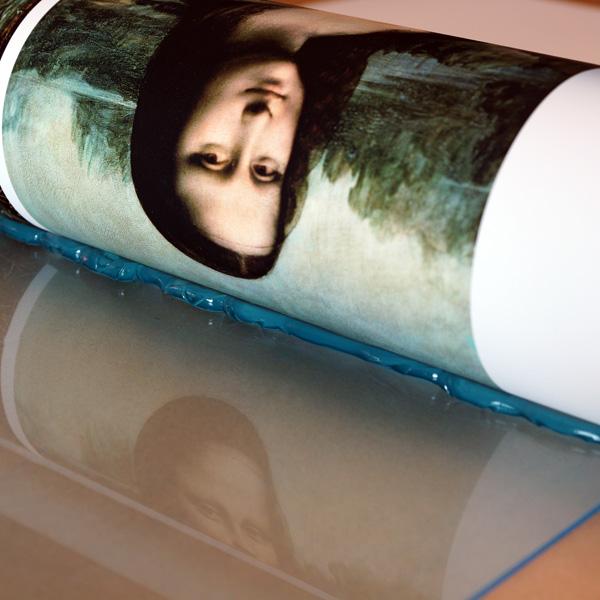 Foto hinter Acrylglas Kaschierung MITTELS Silikon