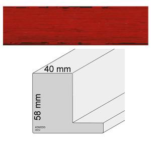 Schattenfugenrahmen Museum in 40mm Breite in Rot