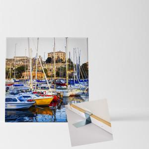 quadratischer Fotoaufsteller als Leinwandbild