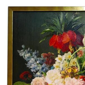 Bilder auf Leinwand im Bilderrahmen-mit Veredelung und Firnis