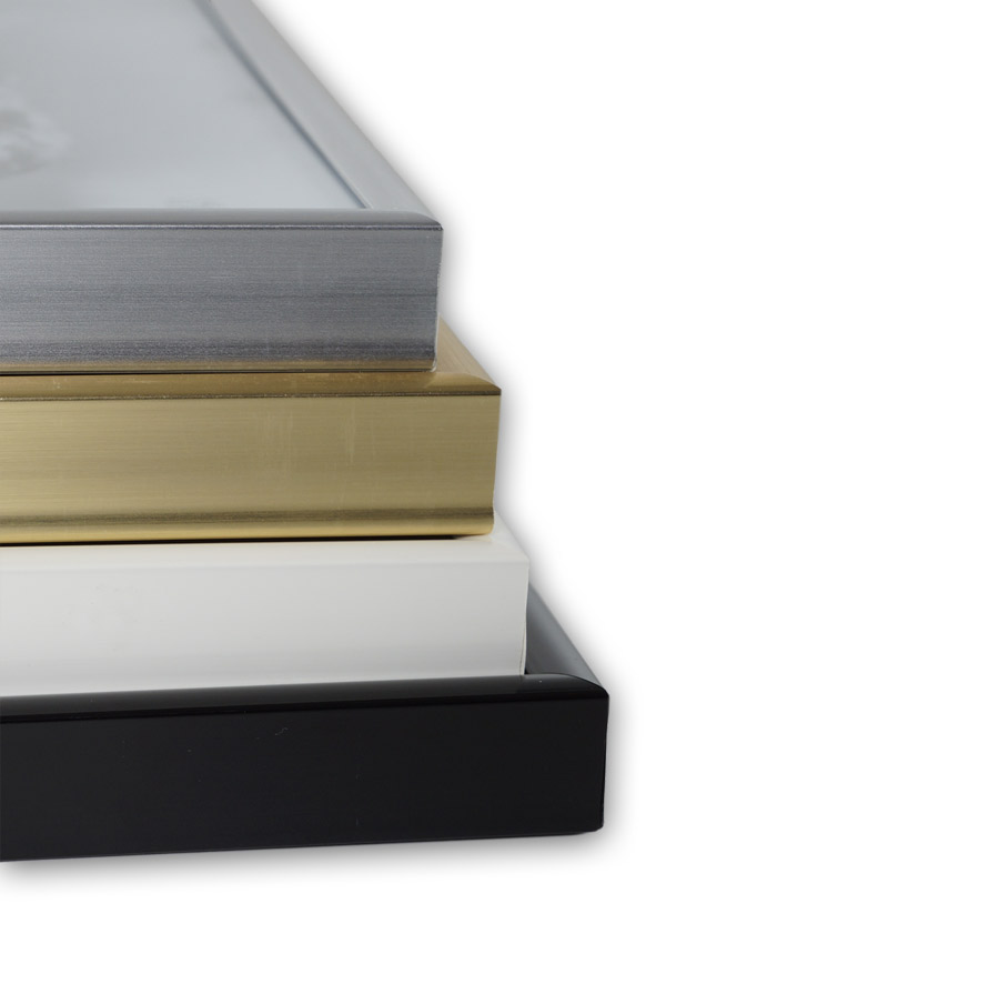 Poster-guenstig-im-Kunstoffrahmen-in-Farben-Silber-Schwarz-Gold-und-Weiss