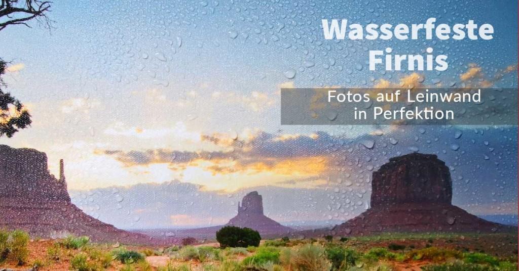 wasserfeste Firnis oder Schutz-Lack für Foto auf Leinwand