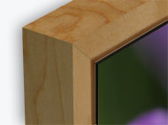 ahorn schattenfugen rahmen 15mm ecke pixoprint. Black Bedroom Furniture Sets. Home Design Ideas