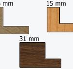 Profil-Schattenfugenrahmen-Rahmenleisten