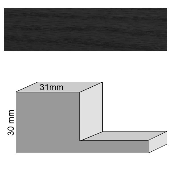 eiche31mm schwarz schattenfugenrahmen pixoprint. Black Bedroom Furniture Sets. Home Design Ideas