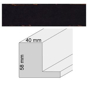 Schwarzer Rahmen für Bilder mit Schattenfuge